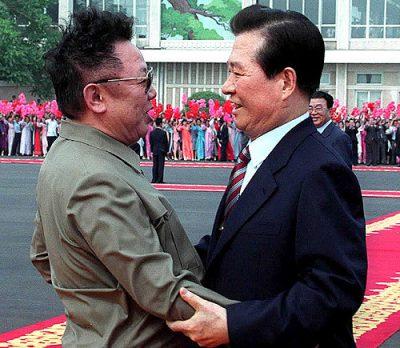 2000年6月に開催された南北朝鮮首脳会談 (金正日と金大中)