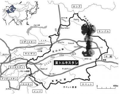 新疆自治区・ウイグルは核実験場にされている。