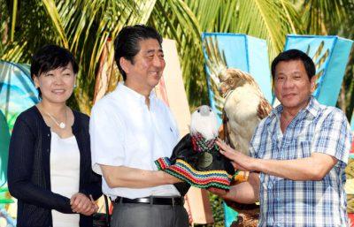 安倍晋三・昭恵夫妻とフィリピンのドゥテルテ大統領